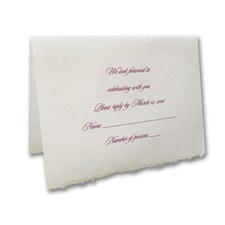 Love Never Fails - Response Card and Envelope