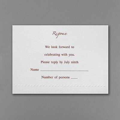 White Shimmer Pocket - Respond Card and Envelope
