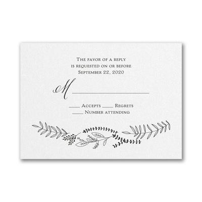 Shimmering Vines - Response Card and Envelope