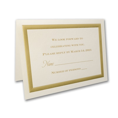Golden Memories - Response Card and Envelope