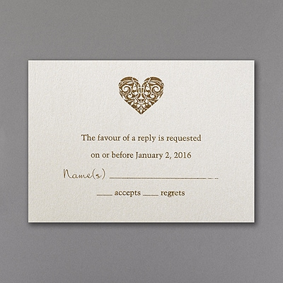 Latte Heart - Respond Card and Envelope