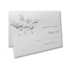 Silver Vines - Response Card and Envelope