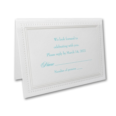 Bright White Squares - Response Card and Envelope