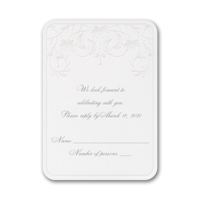 Swirling Romance - Response Card and Envelope