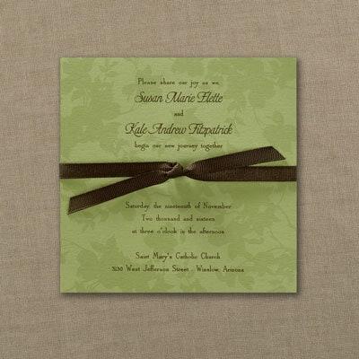 Green Leaves - Invitation