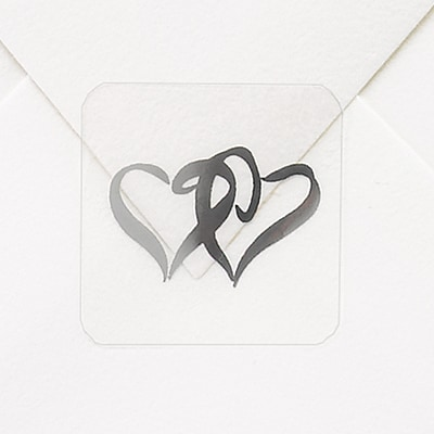 Two Hearts Seal - Silver