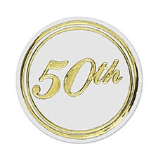 50th Seal - Gold