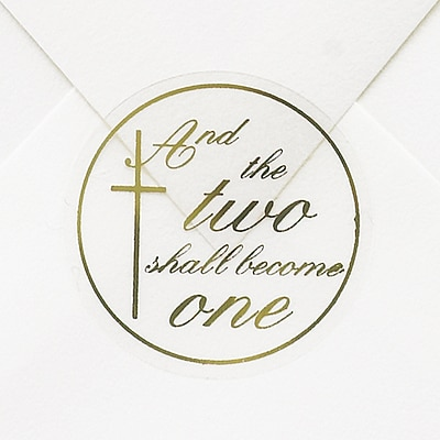 Two Shall Become One Seal - Gold