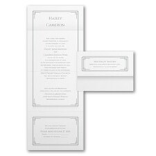 Seal and Send Invitation: Shimmering Deco