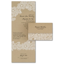 rustic invitation: Lacy Accents