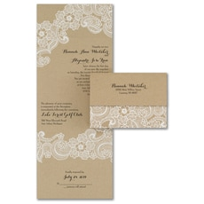 All In One Invitation: Lacy Accents