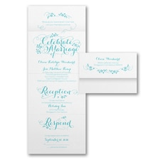 With RSVP Cards: Marriage Celebration