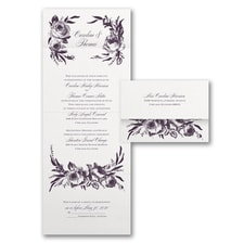 With RSVP Cards: Divine Blossoms