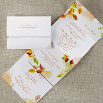 Leaf Swirl Seal N Send Wedding Invitations Carlson Craft View