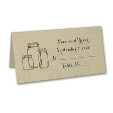 Printed Place Card - Kraft