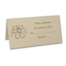 Wrapped in Gold - Printed Place Card