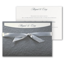 Flowers and Vines - ribbon invitation