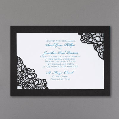 Black Die Cut - Invitation
