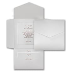 White Shimmer Pocket - Pocket Invitation