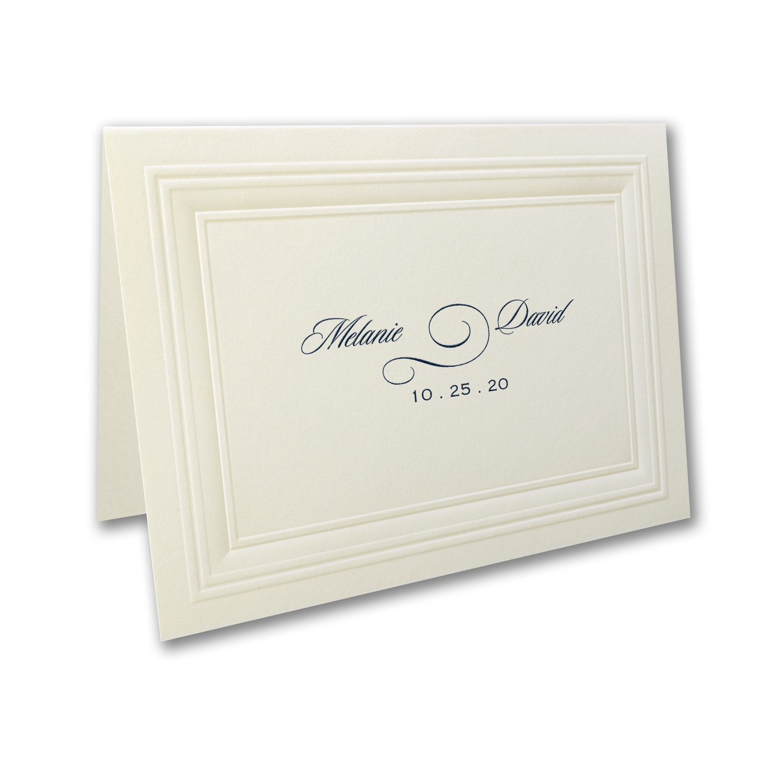 ecru embossed borders thank you note thank you notes carlson