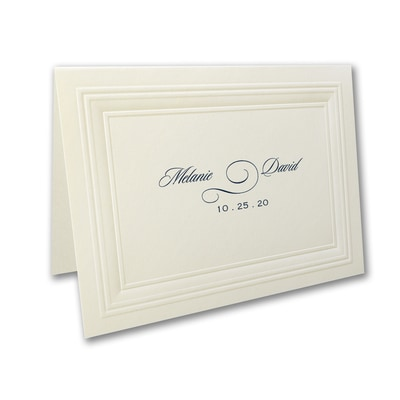 Ecru Embossed Borders - Thank You Note