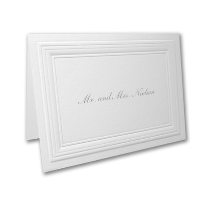 White Paneled - Thank You Note