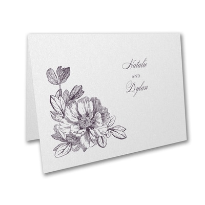 vows and flowers thank you note