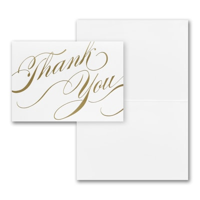 Gold Unending Gratitude - Thank You Note - Blank