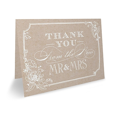 Country Blossom - Thank You Note - Blank