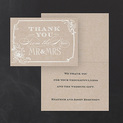 Country Blossom - Thank You Note - Printed