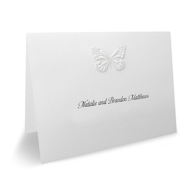 Butterfly Wishes - Thank You Note