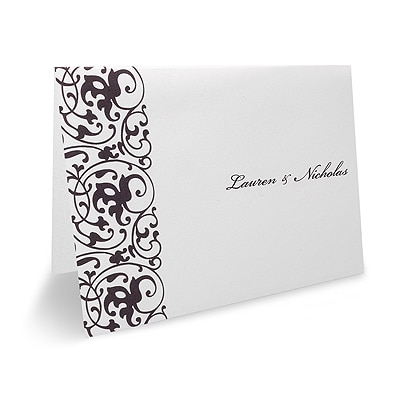 Wrapped in Purple Chiffon - Thank You Note