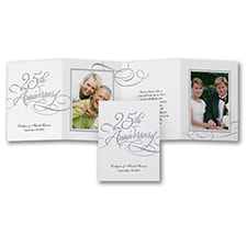 Silver Reflections Anniversary Invitation