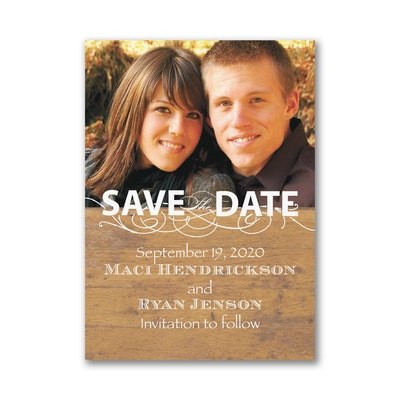 Rustic Announcement - Save the Date Magnet
