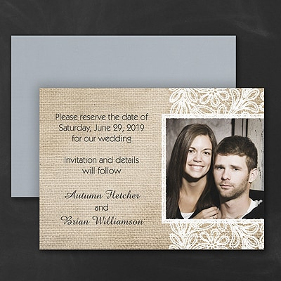 Rustic and Lace - Save the Date Magnet
