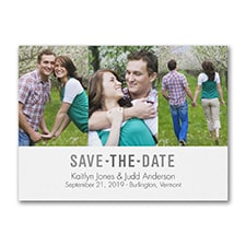 Save The Date: Triple Photo