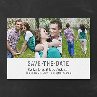 Triple Photo - Save the Date
