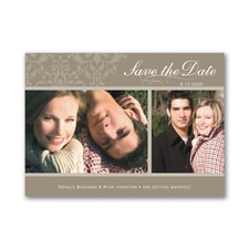 Two Photo - Save the Date Magnet