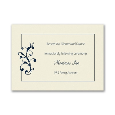Little Love Birds - Reception Card - Ecru