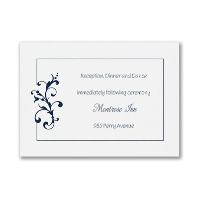 Little Love Birds Reception Card - White