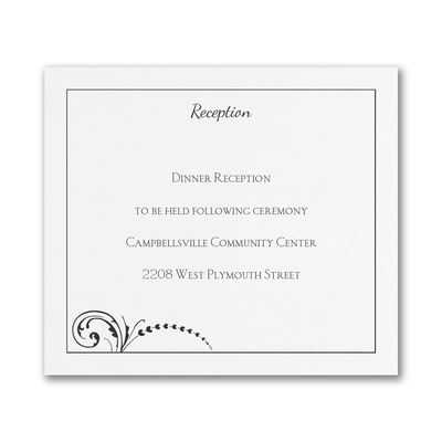 Black and White Pocket - Reception Card