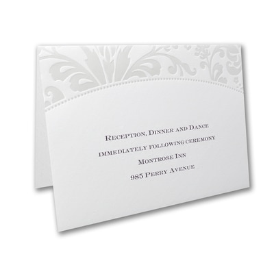 Pearlized Filigree Border - Reception Card