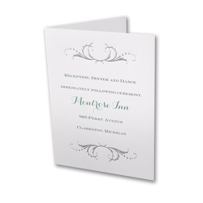 Swirled in Silver - Reception Card