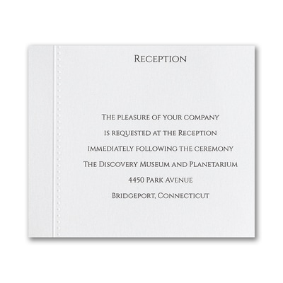Elegant Entrance - Reception Card