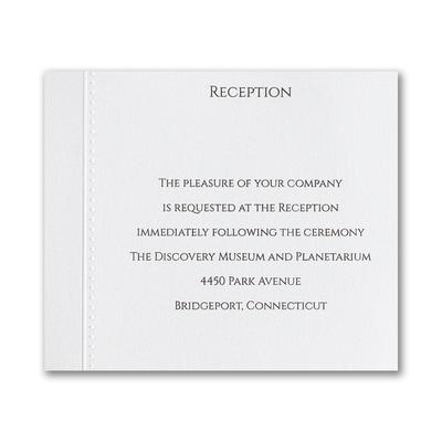 Elegant Entrance - Reception Card