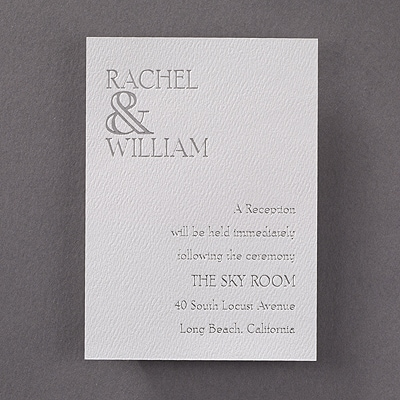 Ampersand Love - Reception Card