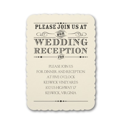 Typography Inspiration - Reception Card