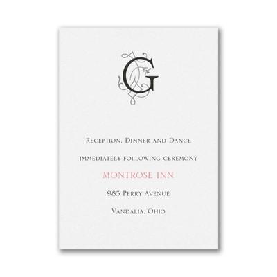Modern Royalty - Reception Card