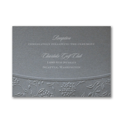 Flowers and Vines - Reception Card