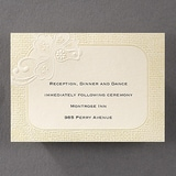 Rustic Romance - Reception Card